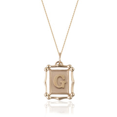 Rectangle Alphabet Necklace