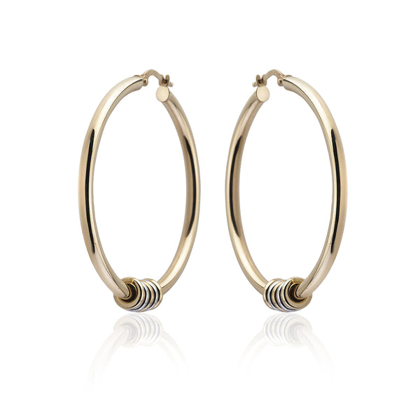 Large Link Hoop Earrings