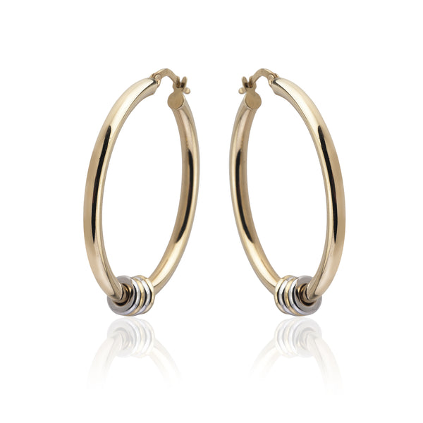 Medium Link Hoop Earrings