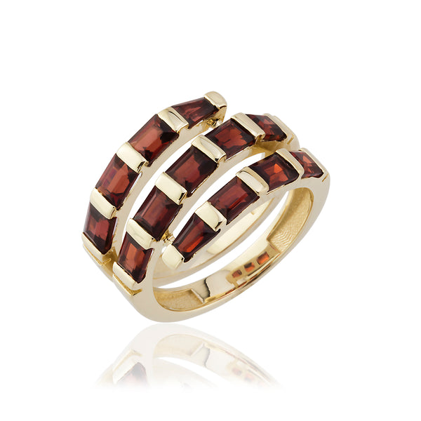 Trapeze Ruby Ring
