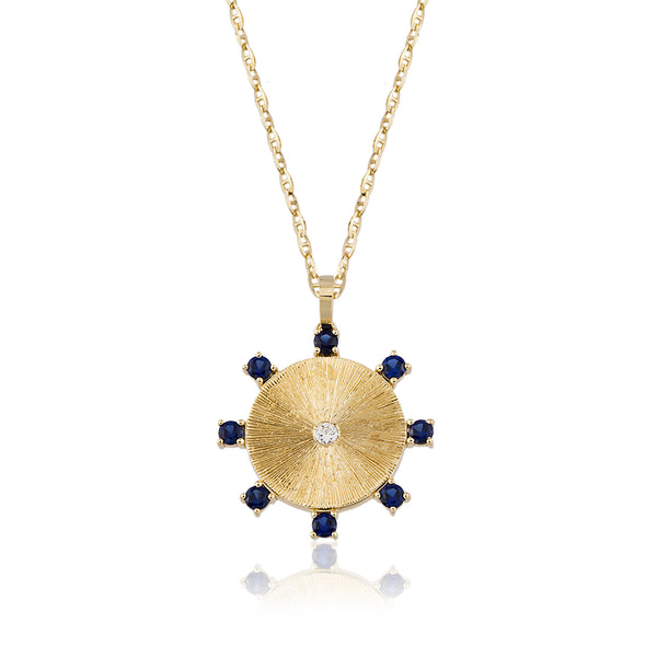 Sapphire Carousel Necklace
