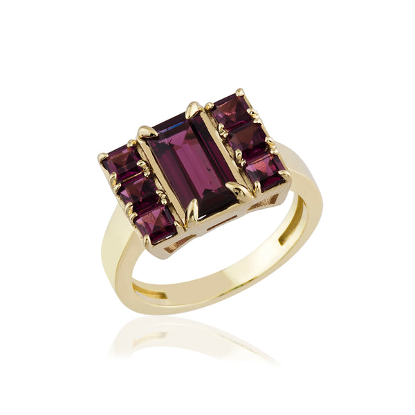 7Stone Ruby Ring