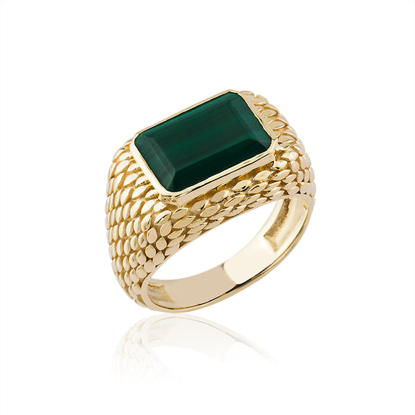 SerpentileL Malachite Ring