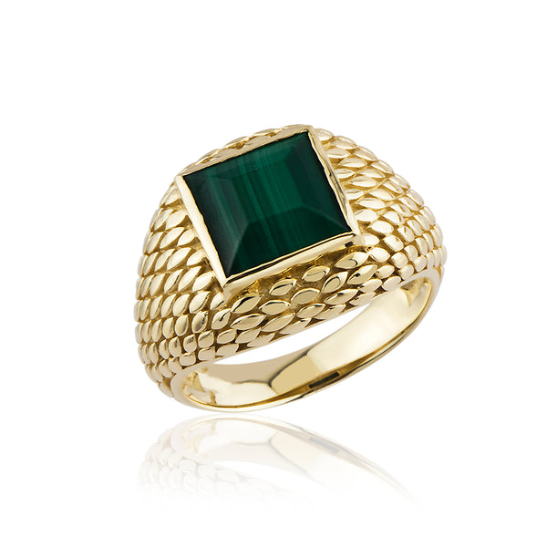 SerpentileM Malachite Ring