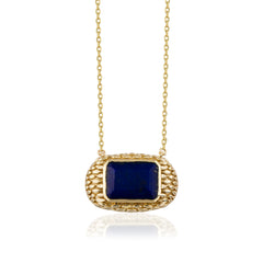 Serpentile M Lapis Necklace