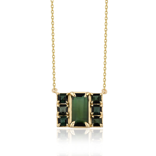 7Stone Green Necklace