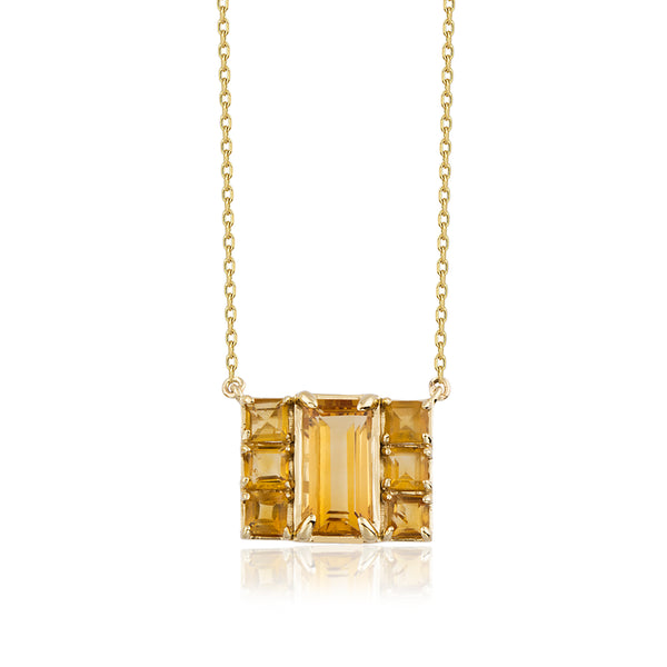 7Stone Yellow Necklace