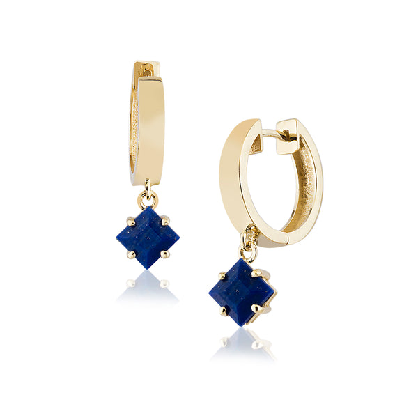 Lapis Breeze Hoops