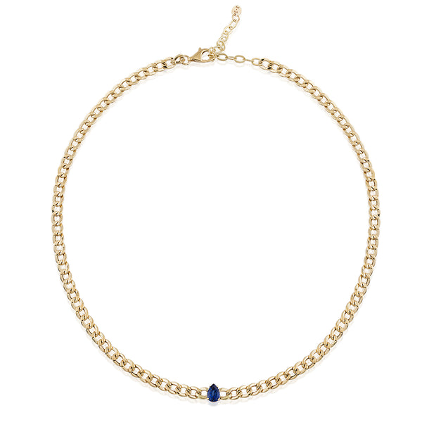 Sapphire Chain Necklace