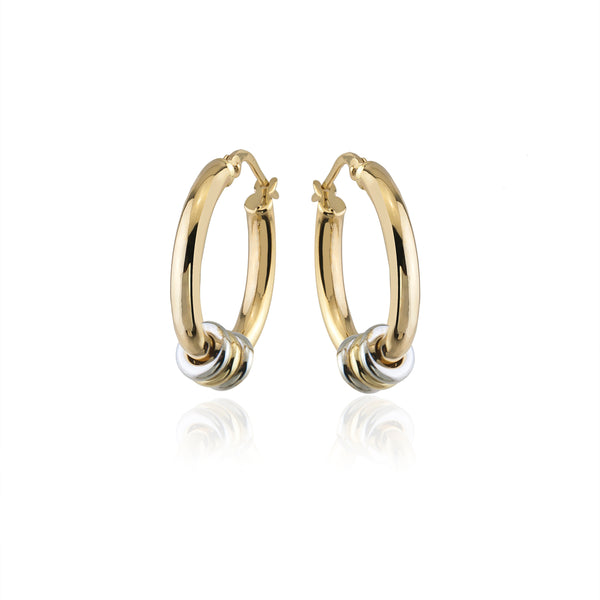 Small Link Hoop Earrings