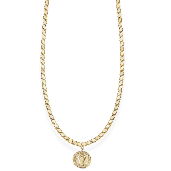 Chain Coin Large Necklace