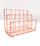 Copper Desk Organiser