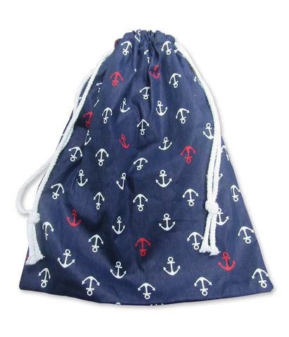 Printed Cotton Drawstring Bag