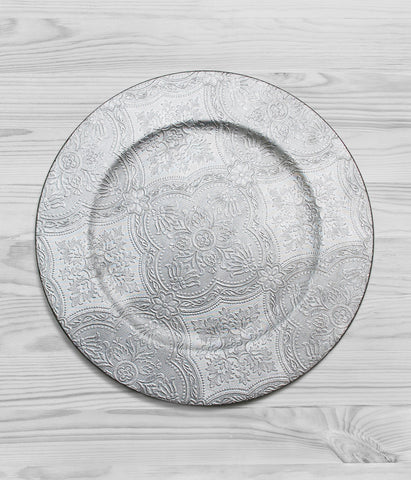 Round Embossed Charger Plate
