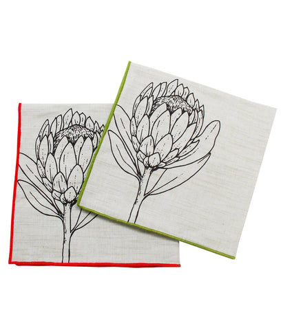 Satin Stitch Hem Napkins