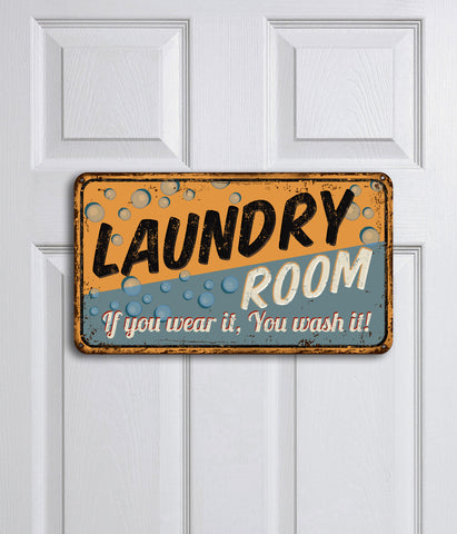 You Wash It Laundry Plaque