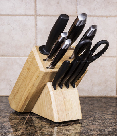 Knife Set In Wooden Block