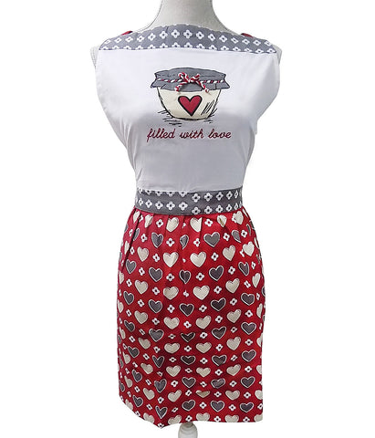 Filled With Love Feminine Apron