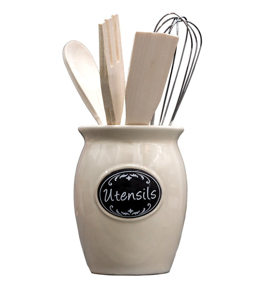 Traditional Ceramic Utensil Holder