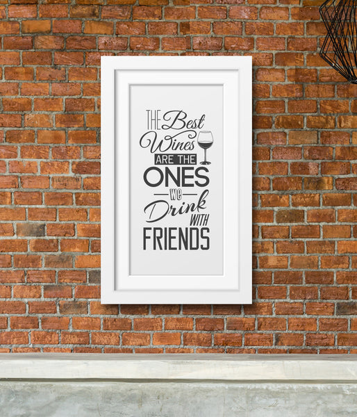 Drink With Friends Wall Art
