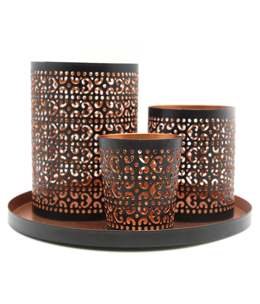 Two Tone Punched Metal Candle Accessories