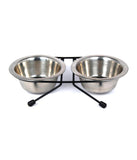 Dual Pet Bowl On Stand