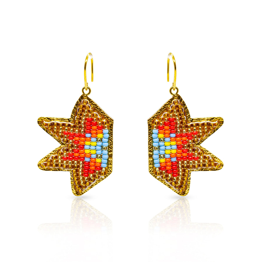 Fire Star Earrings