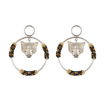 The Jaguar and The moon Earrings