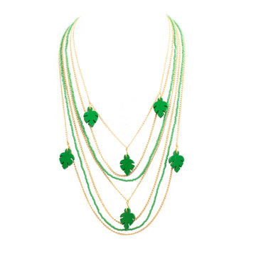 Hoja Rota waterfall necklace