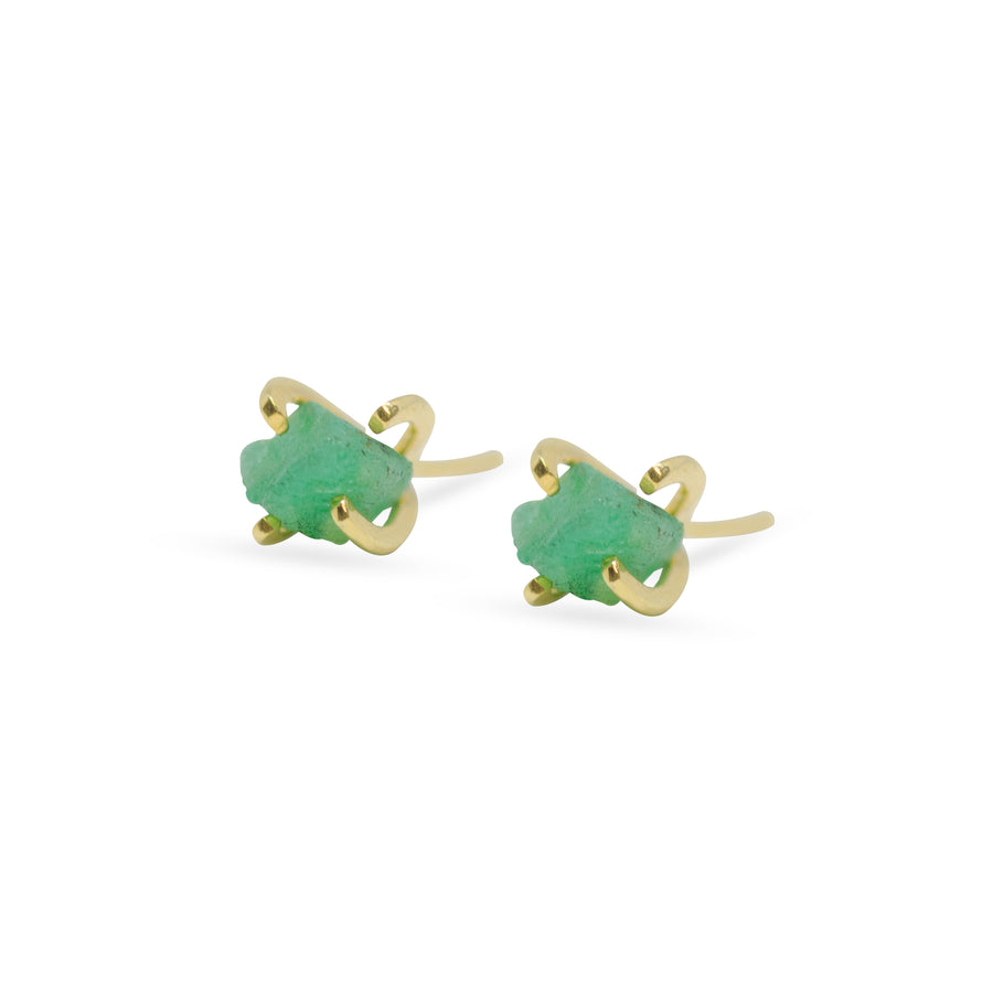 EMERALD EARRING PINS