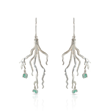 Roots earrings Silver