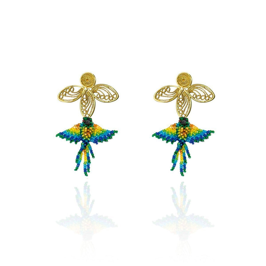 YUMAJAI Earrings Colibri Nectar
