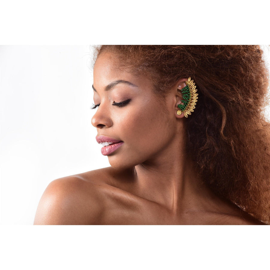 YUMAJAI Earrings Ear Cuff Enredadera