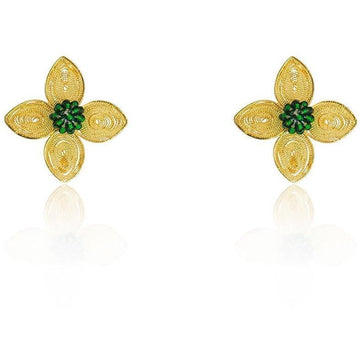 YUMAJAI Earrings Filigree colibri flower