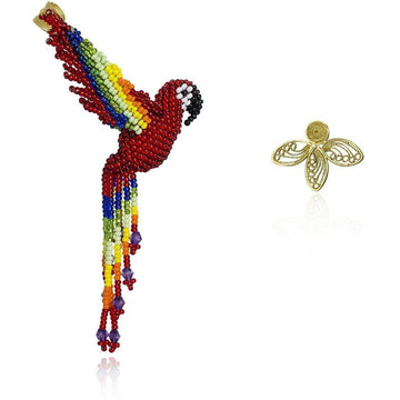 YUMAJAI Earrings Guacamaya Solitaire filigree