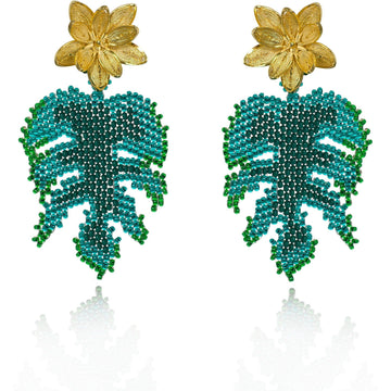 YUMAJAI Earrings Hoja Rota