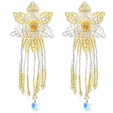 YUMAJAI Earrings Kueba Ve Kea Ebarishi-The Silver Dew