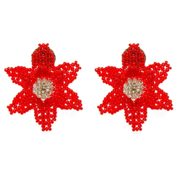YUMAJAI Earrings Nifono Purea-Red Flower
