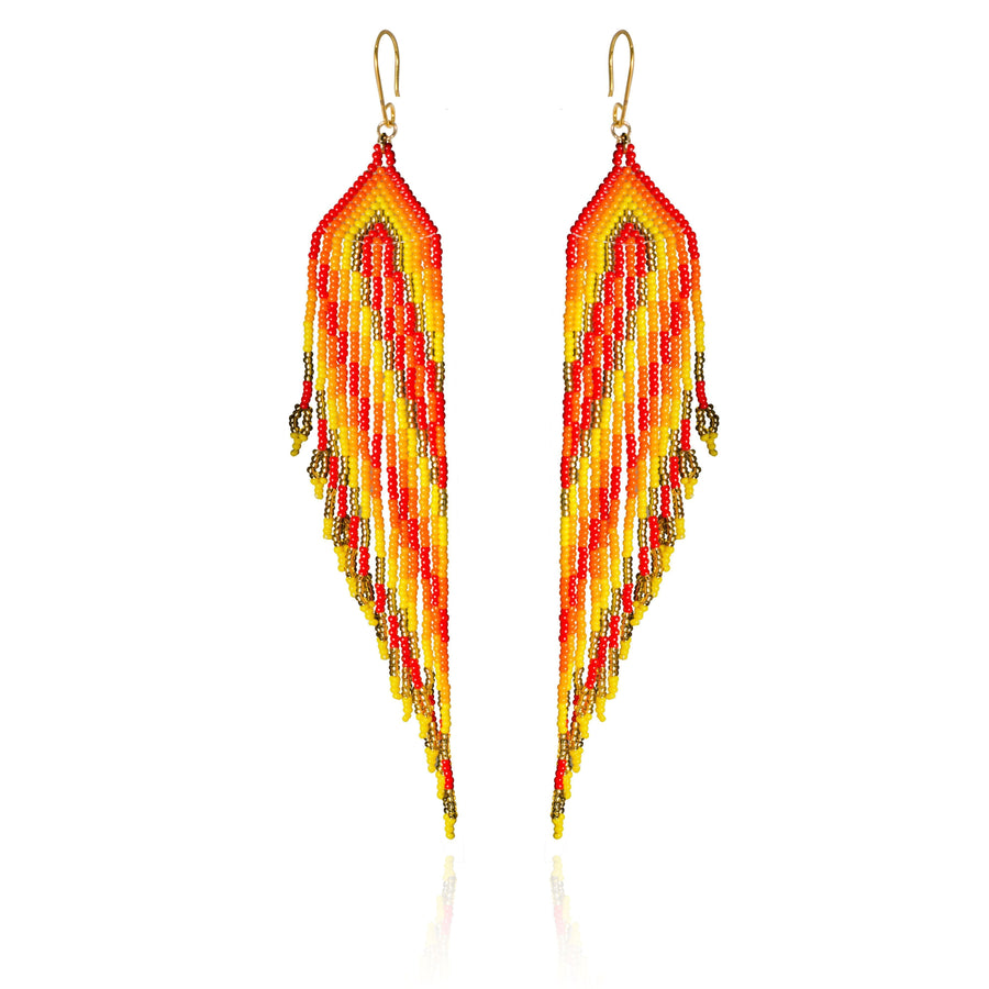 YUMAJAI Earrings Pluma Pop Guacamaya
