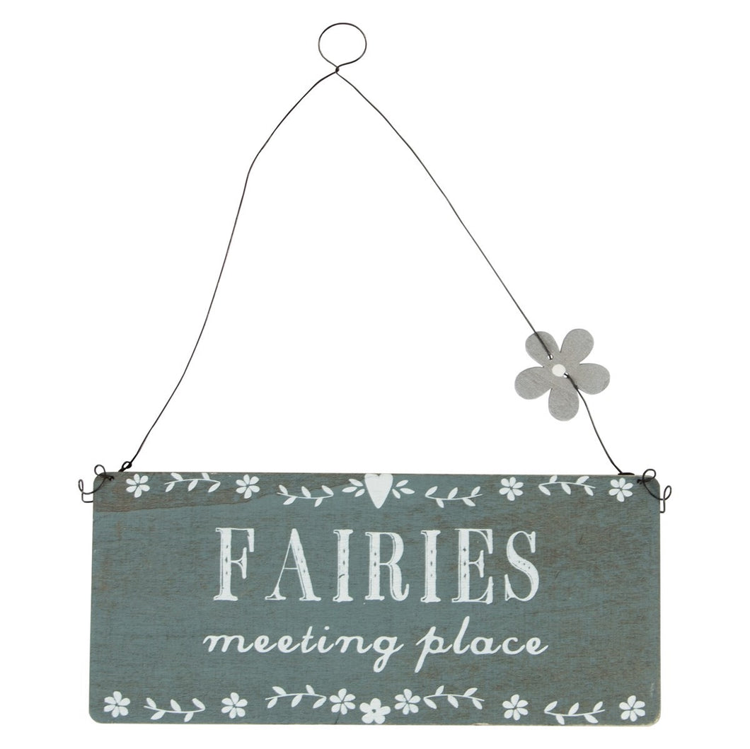 Fairies Meeting Place Sign