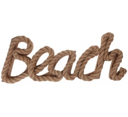 Beach Rope Sign
