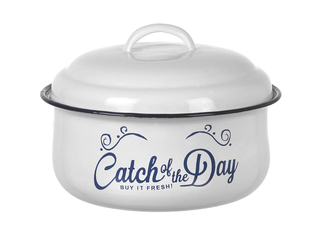 Enamel Seafood Pot with Lid