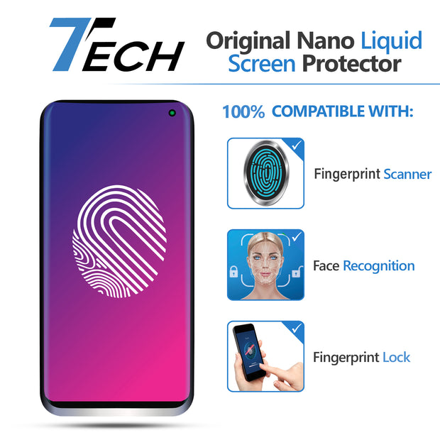 7Tech Original Liquid Glass Screen Protector- for 3 smartphones