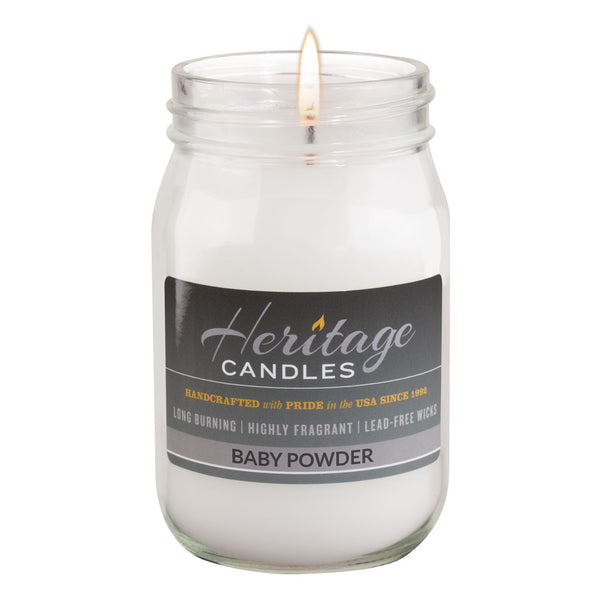16-oz Canning Jar Candle - Baby Powder