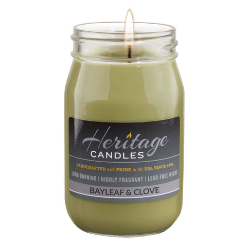 16-oz Canning Jar Candle - Bayleaf & Clove