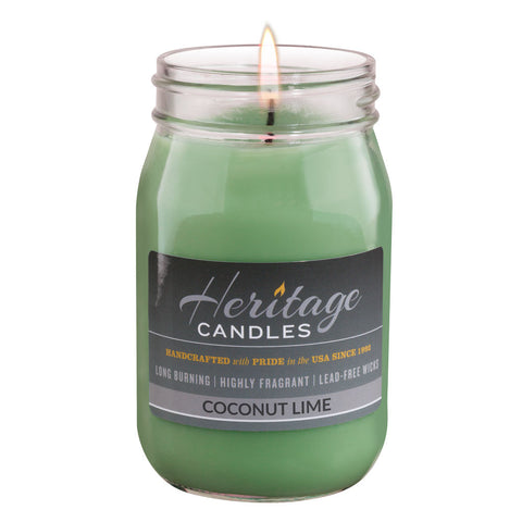 16-oz Canning Jar Candle - Coconut Lime
