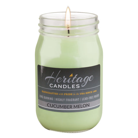 16-oz Canning Jar Candle - Cucumber Melon
