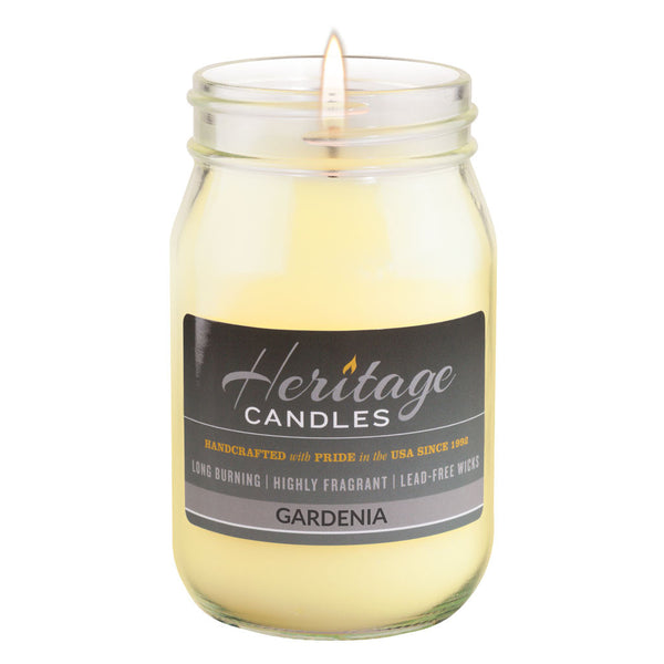 16-oz Canning Jar Candle - Gardenia