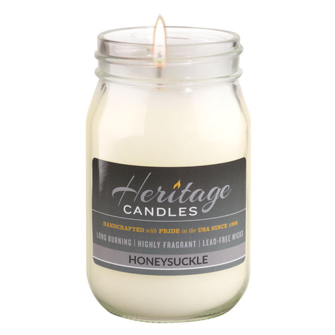 16-oz Canning Jar Candle - Honeysuckle