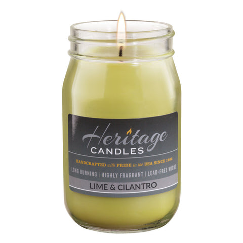16-oz Canning Jar Candle - Lime & Cilantro